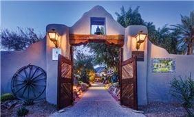 Historic Entry at Hacienda Del Sol Guest Ranch Resort