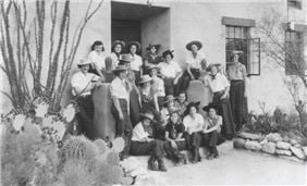 School Girls at Hacienda Del Sol Guest Ranch Resort in the 1930's