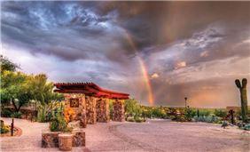 Driveway at Hacienda Del Sol Guest Ranch Resort