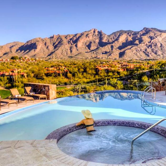 Pool and Jacuzzi at Hacienda Del Sol Guest Ranch Resort, Tucson