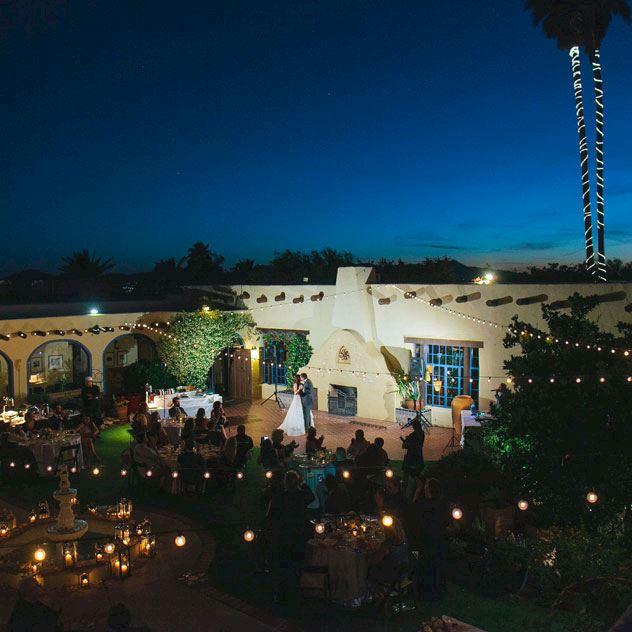 Inner Courtyard at Hacienda Del Sol Guest Ranch Resort, Tucson